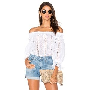 NWOT J.O.A. | Los Angeles eyelet off the shoulder